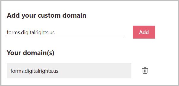 custom domain for surveys