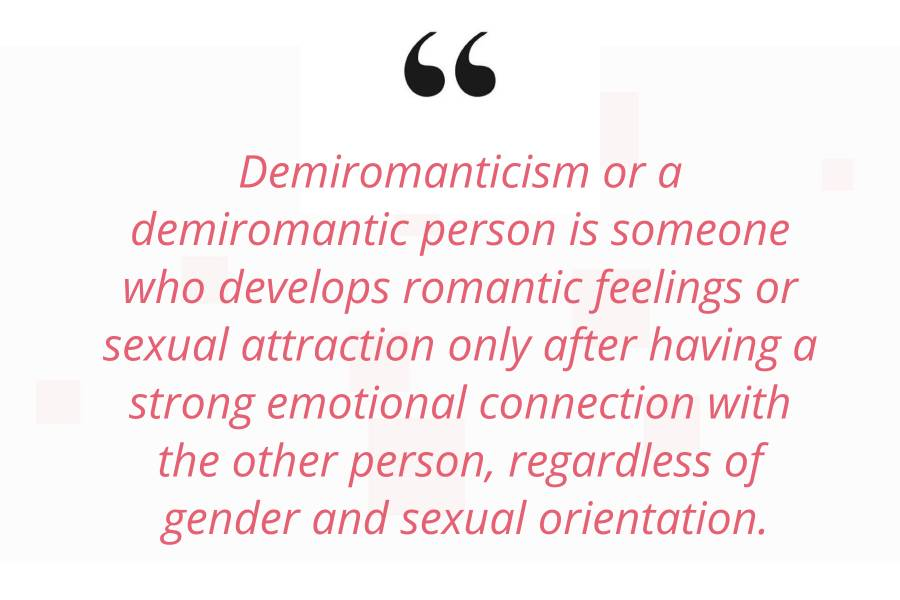 what is demiromantic