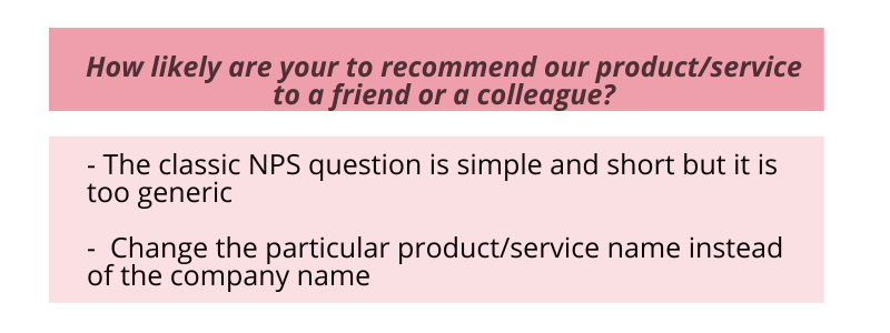 NPS Question Example 1