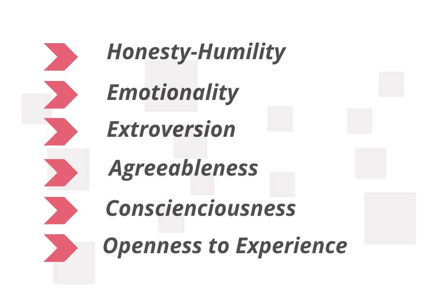 6 factors to a human personality
