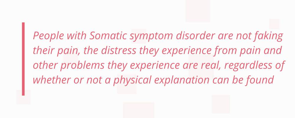 Quote on somatic symptom disorder